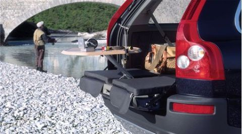 XC90 Seat cushion, cargo space opening